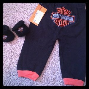 Harley Davidson baby pant and booties